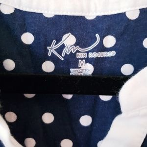 Kim Rogers Tops - 🛍 Kim Roger's button up stripe sleeveless blouse